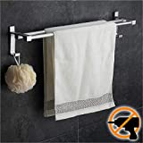 Wangel Doppel-Handtuchstange Handtuchhalter ohne Bohren 60cm...
