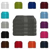4 tlg. Handtuch-Set in vielen Farben - 4 Handtücher 50x100...