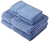Pinzon by Amazon Handtuchset aus Baumwolle, Wedgewood-Blau,...