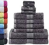 GREEN MARK Textilien 10 TLG. FROTTIER Handtuch-Set mit...