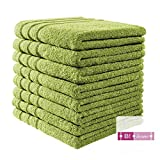 B!HOME 8er Set Handtücher grün 50x100 Frottier Baumwolle