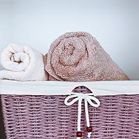 Handtücher im Korb